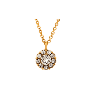 Petite Miss Sofia Necklace- Crystal Gold