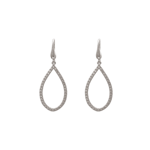 Kennedy earrings - Crystal (Silver)
