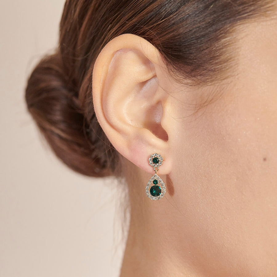 Petite Sofia Earrings - Emerald