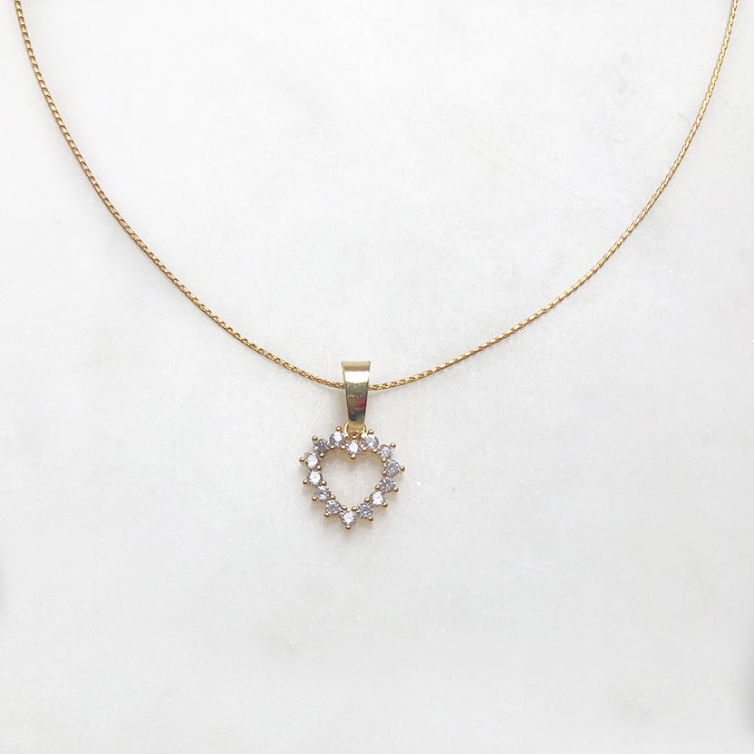 Necklace Bright Heart (14ct Gold Plated)