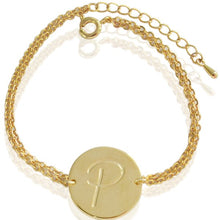 Initial Designer Bracelets (18ct Yellow & White Gold Plated)