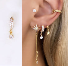 Double Diamond Earring(14ct Gold plated)-contains one earring