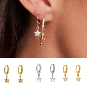 Lovefromme Star Earrings -18ct Gold Plated