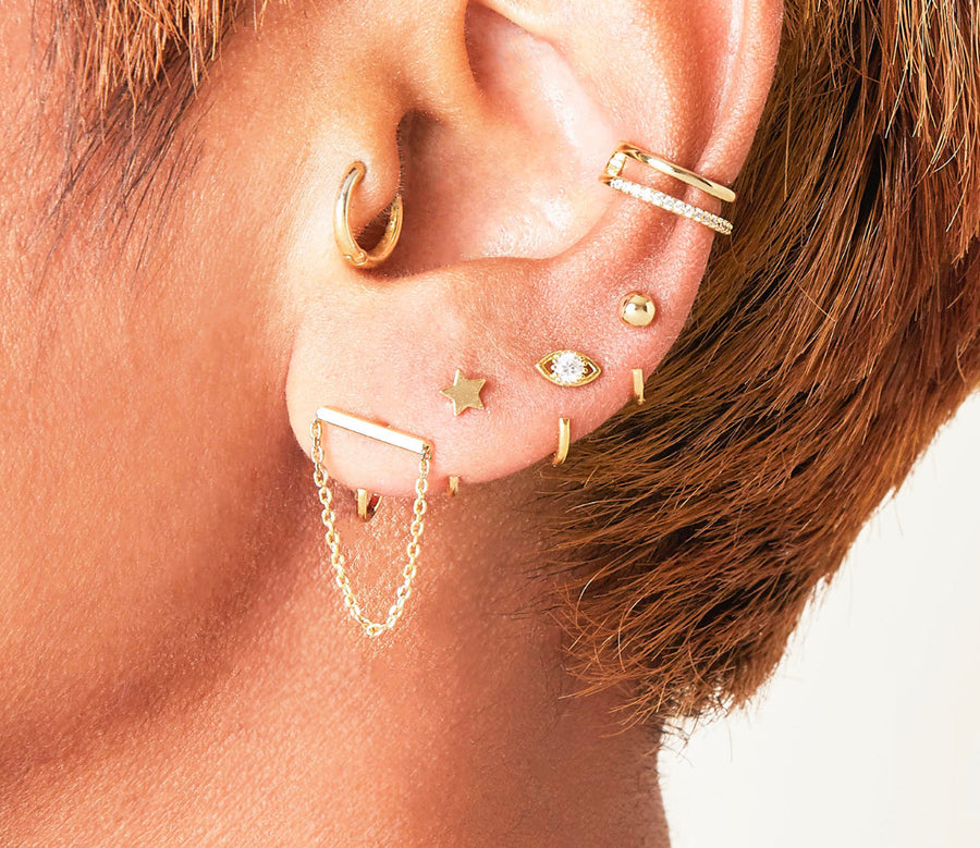 Double Up   Ear Cuff (18ct Gold Plated)