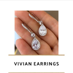 Vivian Earrings (Yellow Gold, Rose Gold & Silver Available)