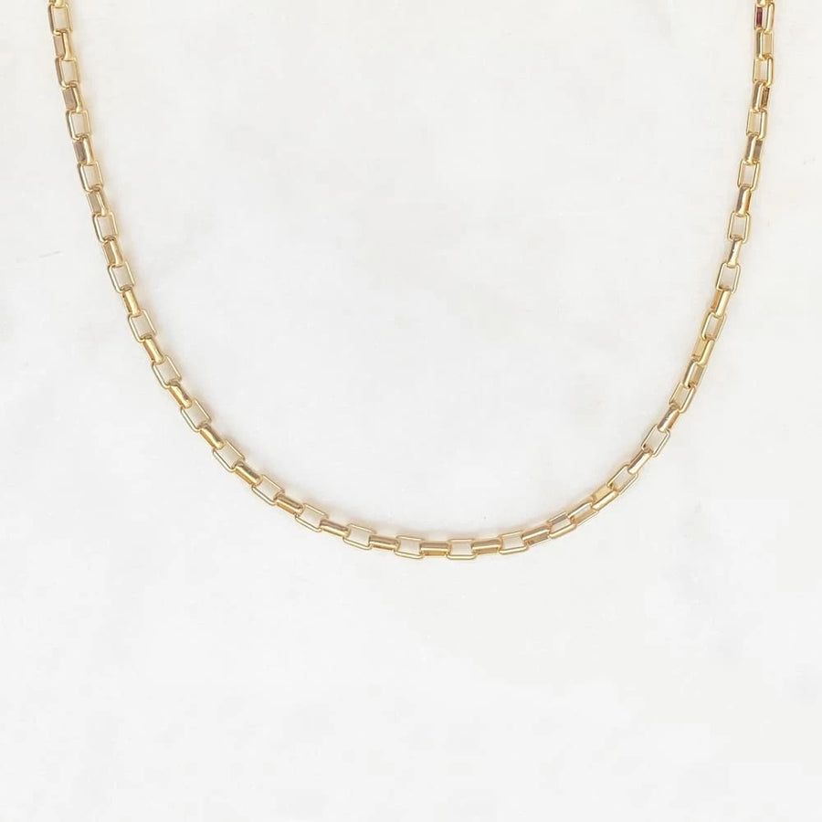 Plain Curled Necklace(14ct Gold Plated)