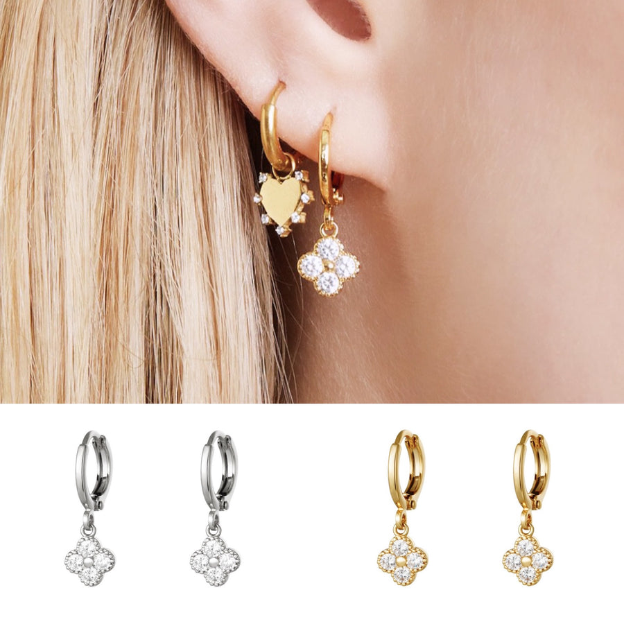 Clover  Earrings (Gold & Silver Available)