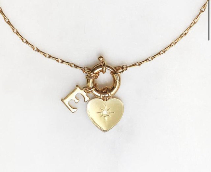 Amulet Heart Initial