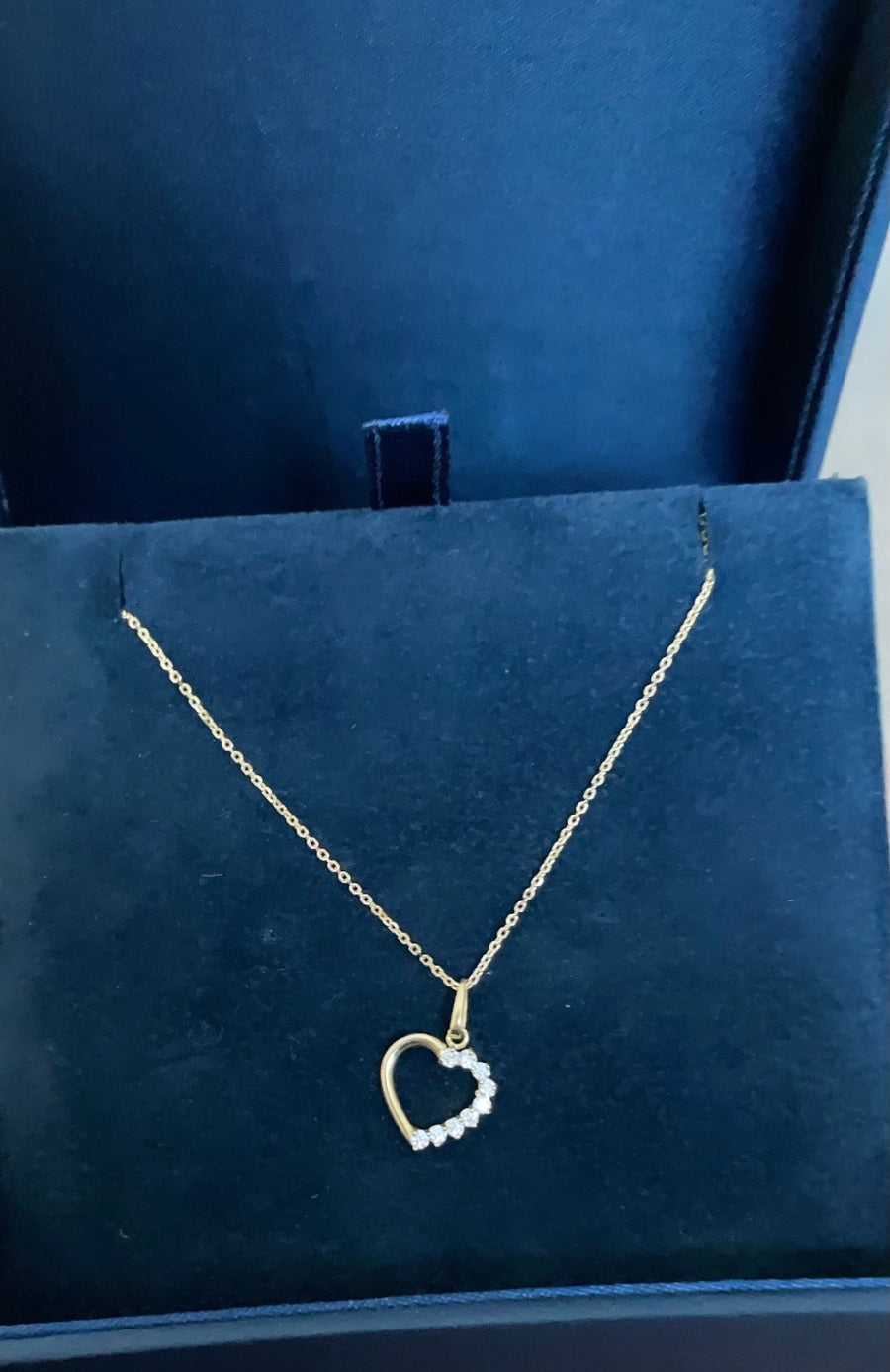 Heart Pendant Necklace (9ct Solid Gold)