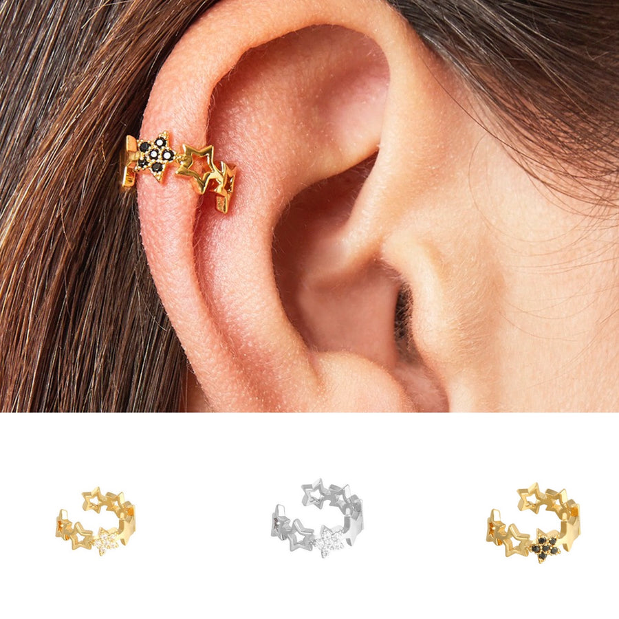 Stars in Your Eyes Ear Cuff  -  (three variants) - Gold Plated