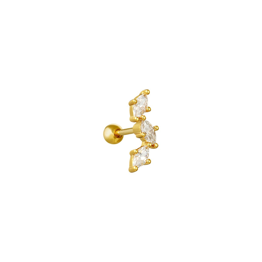 Piercing Diamond  Stud - Gold Plated