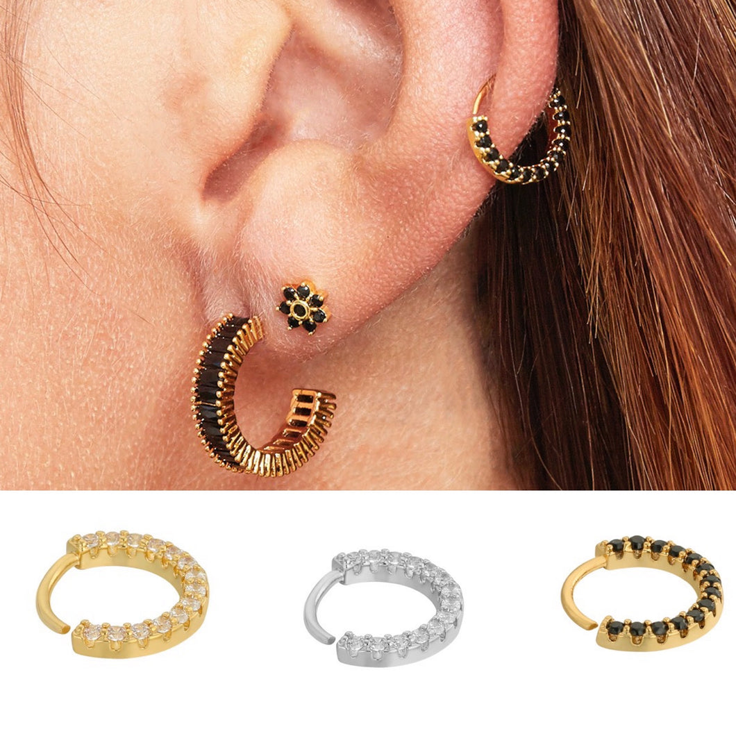 Large Circle Stud - Gold Plated