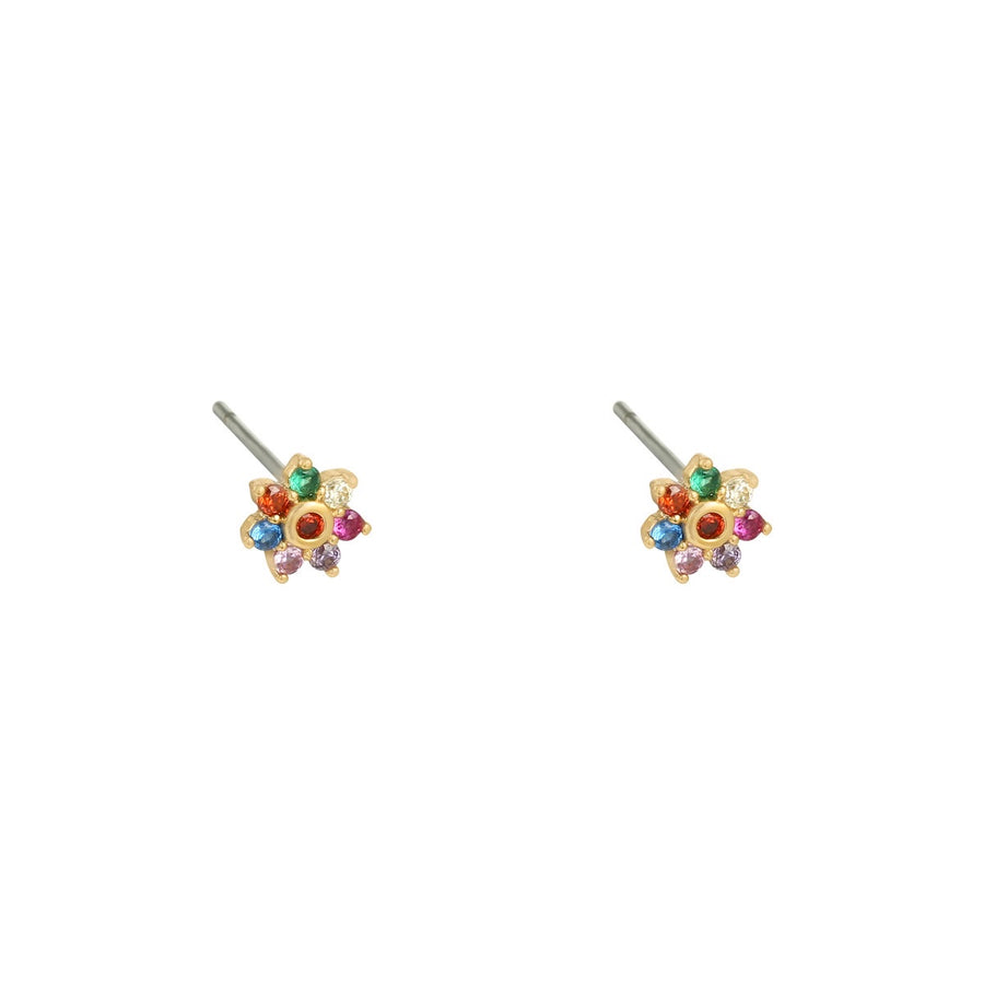 Mini Flower Earrings (24ct Gold Plated)