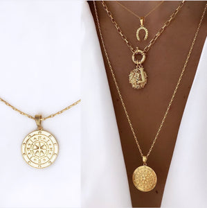 Compass Necklace (14ct Gold Plated)