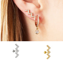 Lightning Diamond  Stud - Gold Plated