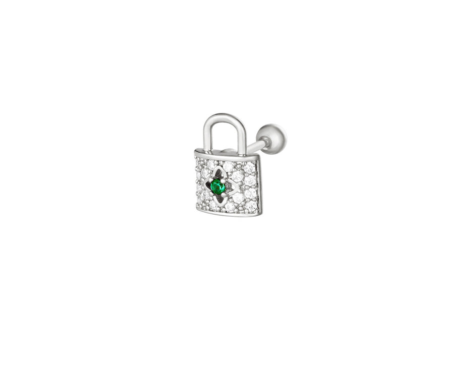 So Precious Lock Stud - Gold Plated