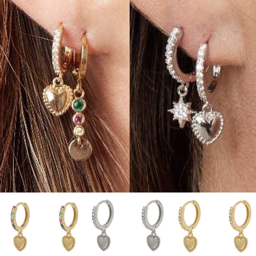 Lovefromme Heart Earrings - Gold Plated