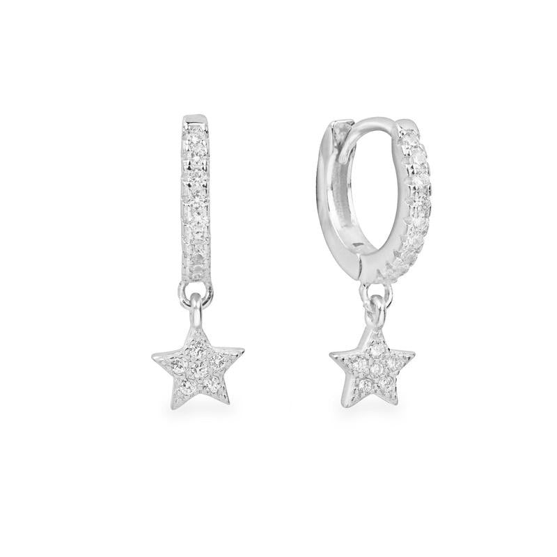 Sterling Silver Star Huggies  (Gold & Silver Available)