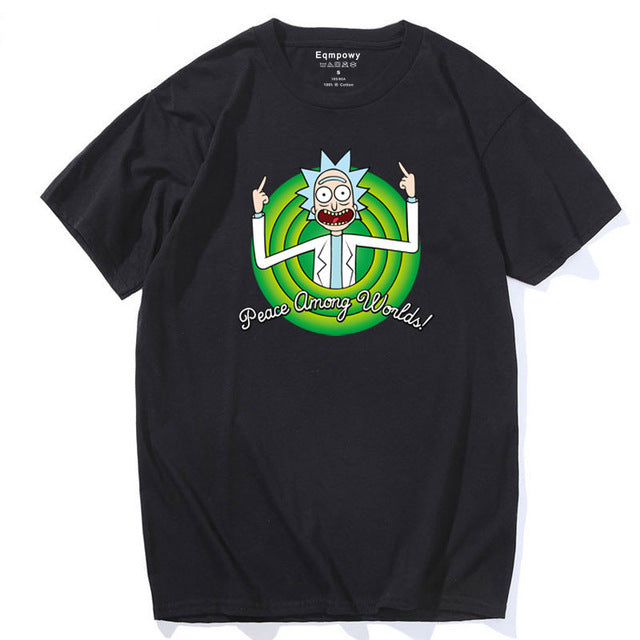 Rick and Morty T-Shirt - Peace Among Worlds