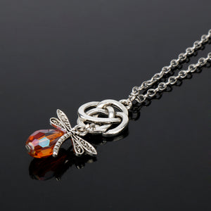 Dara Knot and Dragonfly Necklace - FREE PLUS SHIPPING