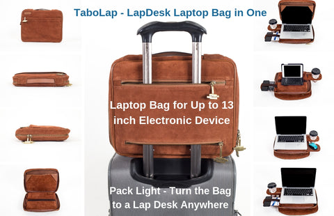 a4c32b032d10 TaboLap Laptop Bag Converts to a Lap Desk for Busy Professionals and ...