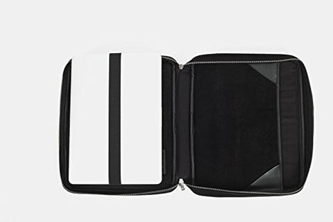 Image of Laptop Bag Converts to a Lap Desk - TaboLap Black Neoprene Computer Bag Doubles as a Lapdesk with Bottle or Cup Holder, 2 Retractable Trays to Store Snacks, Gadgets, and as Mouse Pad. For Up to 14-Inch Device