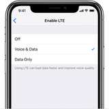 Apple LTE Voice and Data