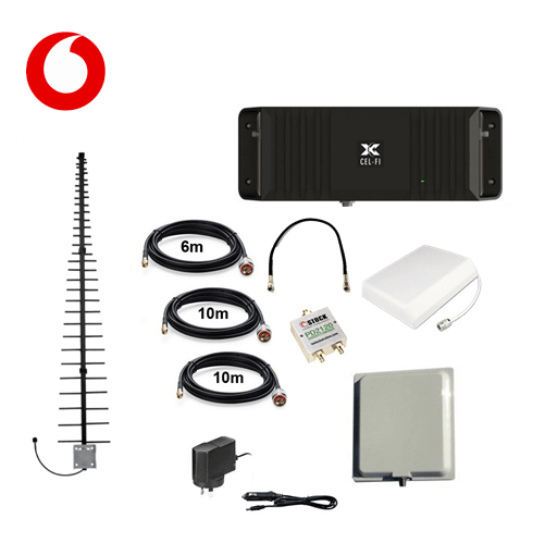 Cel-Fi GO2 Vodafone Building Indoor and Outdoor Pack with LPDA antenna - Trade