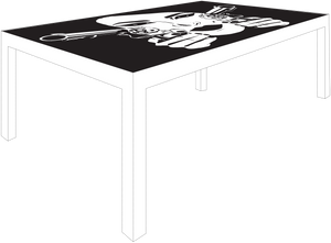 Straight Shooter Table (White)
