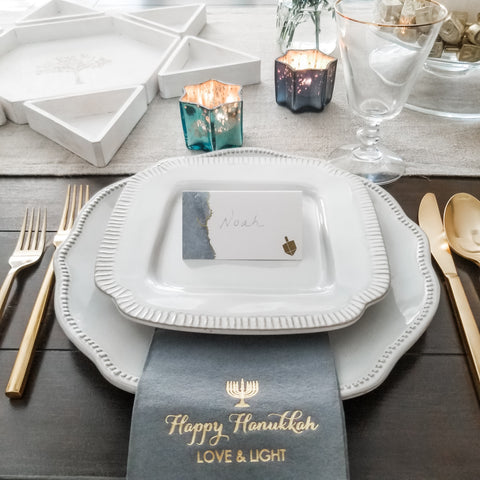 Hanukkah decorations and gifts