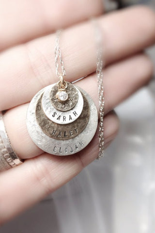 Stamped Name Necklace- Peace Love Light Shop