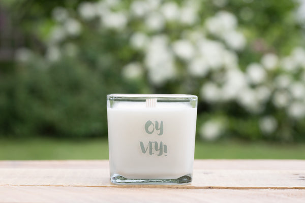Passover Hostess Gift, Oy Vey Scented Candle- Peace Love Light Shop