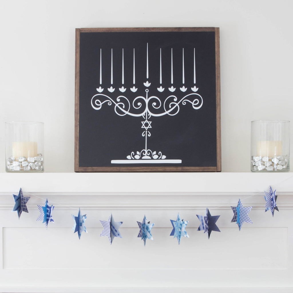 Decorating for Hanukkah:  How to Style Your Mantel