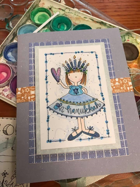 Hanukkah Craft- DIY Card Kit, Peace Love Light
