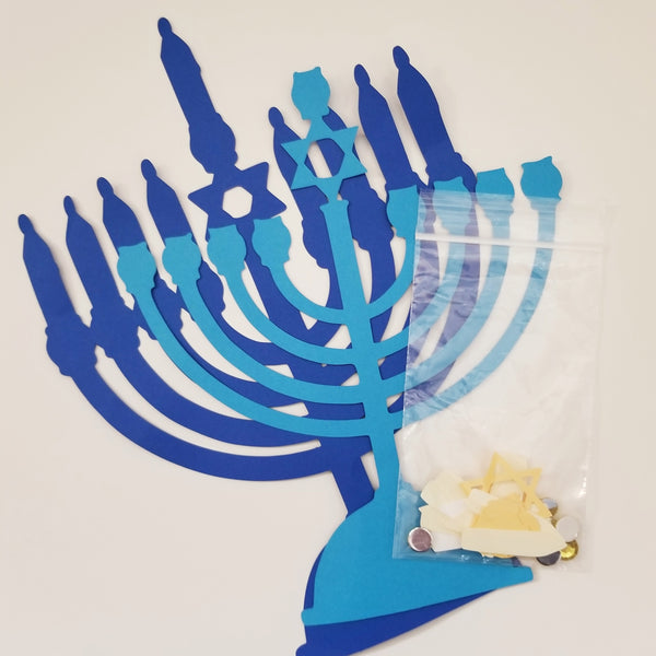 Hanukkah Menorah Craft Kit- Peace Love Light