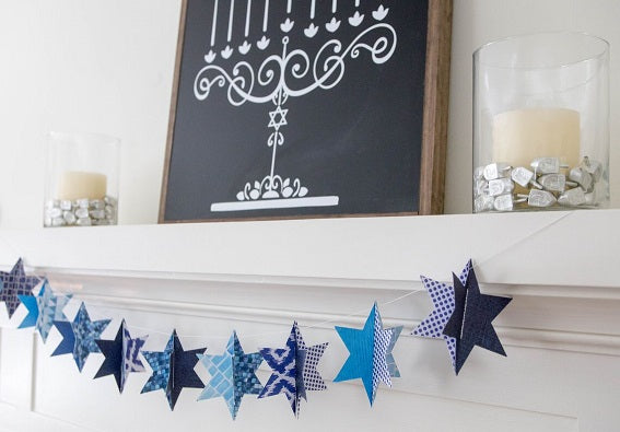 How to style your mantel for Hanukkah