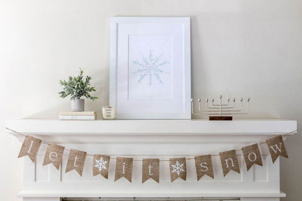 How to style your Hanukkah Mantel- Peace Love Light Shop