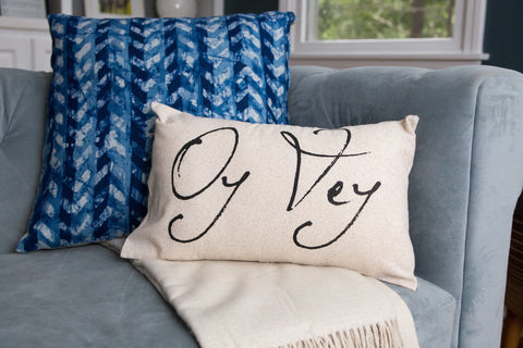 Oy Vey pillow, Hanukkah pillows