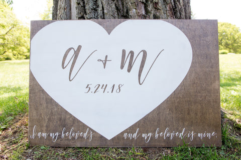 Wedding welcome sign, Anniversary gift, wood sign