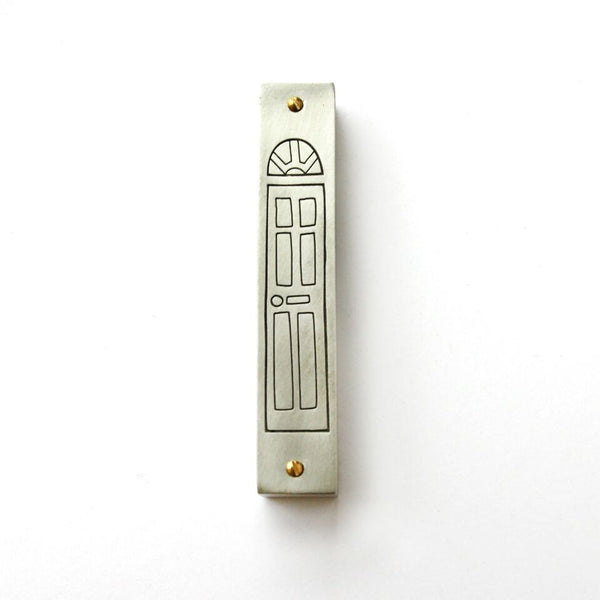 Line-Drawn Door Mezuzah - Peace Love Light Shop