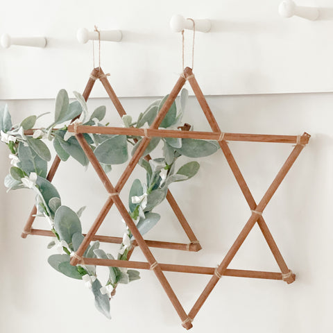 Star of David botanical, Hanukkah decoration- Peace Love Light Shop