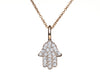 Diamond Hamsa Necklace- White, Yellow or Rose 14K Gold - Peace Love Light Shop