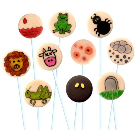 Passover Marzipan 10 Plague Pops - Peace Love Light Shop