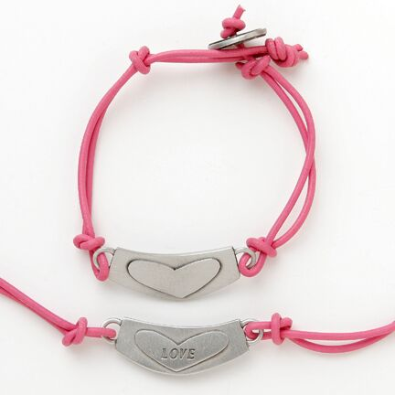 Sterling Silver 'Love' Word Charm Bracelet - Peace Love Light Shop