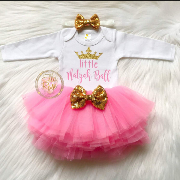 Passover Baby Girl Outfit with Tutu- Peace Love Light Shop