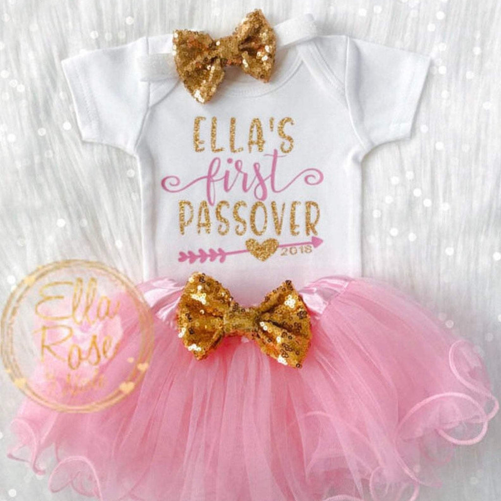 First Passover Baby Girl Outfit- Peace Love Light Shop