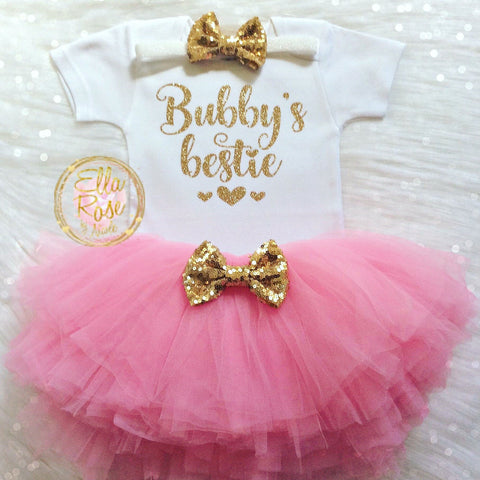 Bubby's Bestie Baby Outfit, Jewish Baby Gift, Hanukkah Gift - Peace Love Light Shop