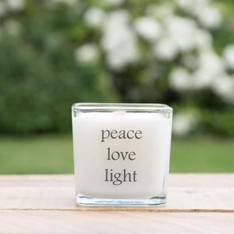 Peace Love Light Soy Candle, Spiritual, Bohemian Gift - Peace Love Light Shop