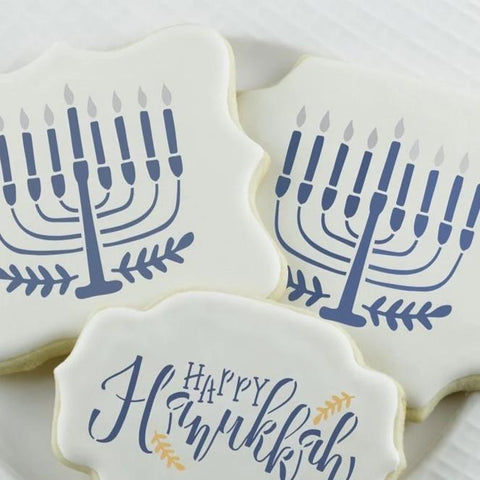 Hanukkah Cookie Stencil, Hanukkah Craft - Peace Love Light Shop