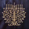 Embroidered Menorah- Hanukkah Linen Runner.  Peace Love Light Shop